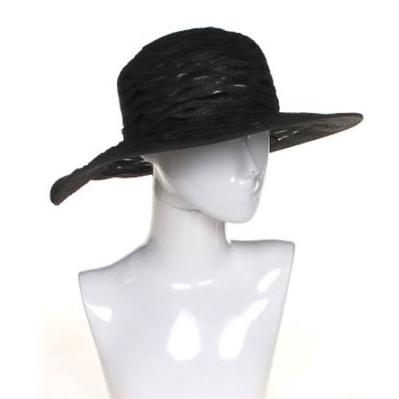 9d07a77b2acd Nine West Accessories | Dressy Black Wide Brim Hat New With Tag ...